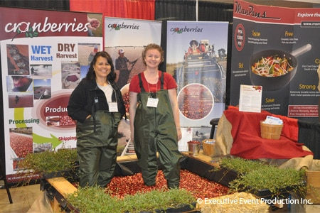 Cranberry booth at the Fraser Valley Food Show in Abbotsford, British Columbia