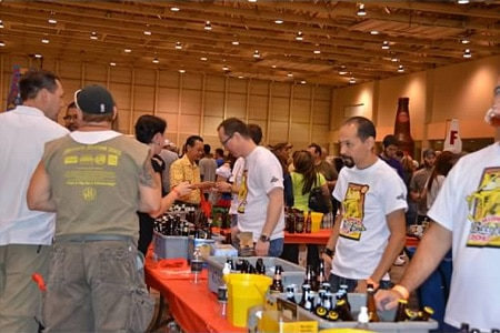 Guests sample beer at the Midwest Beerfest in Wichita, KS
