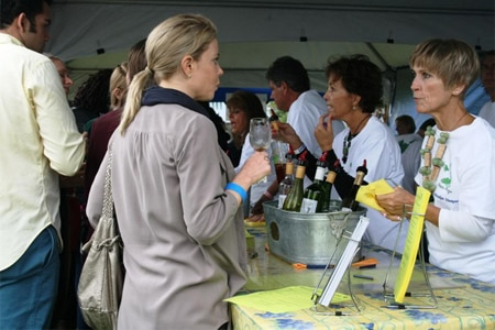 Wine is sampled at the Town Point Virginia Fall Wine Fesival in Norfolk