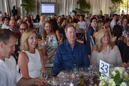 Guests enjoying the V Foundation Wine Celebration in Napa Valley, CA
