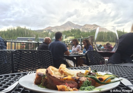 Mountain Village is the setting for Vine and Dine's Wine Stroll in Big Sky, MT