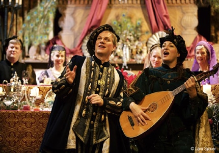 The Bracebridge Dinner performers at The Ahwahnee grand dining room in Yosemite National Park, CA