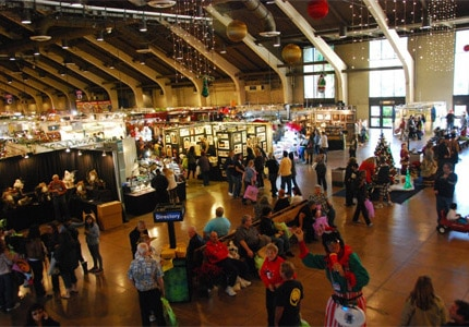 Patrons browse crafts at the Harvest Festival Original Art & Craft Show in Pomona, CA