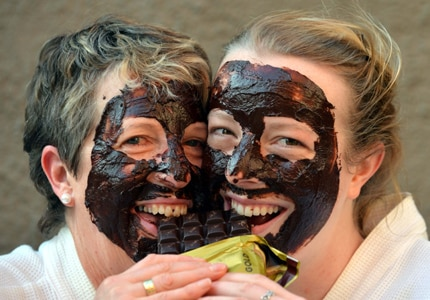 Experience a chocolate facial at the Dunedin Cadbury Chocolate Carnival in New Zealand