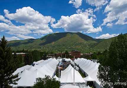 More than 500 vendors are represented at the Food & Wine Classic in Aspen, CO