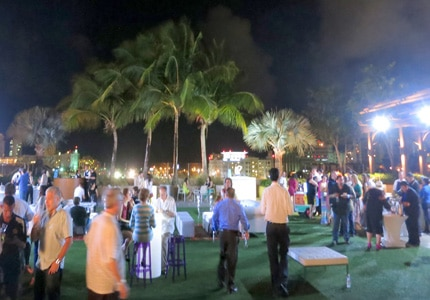 Guests enjoy the outdoors, gourmet food and refreshing drinks at Saborea Puerto Rico: A Culinary Extravaganza