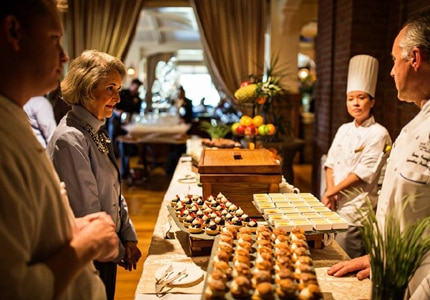 Guests prepare to sample bite-size desserts at The Sanctuary during the 8th Annual Gourmet and Grapes