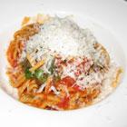 Spaghetti from chef Victor Casanova at Culina at the Four Seasons at Doheny