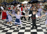 Children dancing at Oktoberfest-Zinzinnati