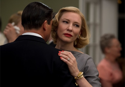 Cate Blanchett is nominated for Best Actress in a Leading Role for the film Carol