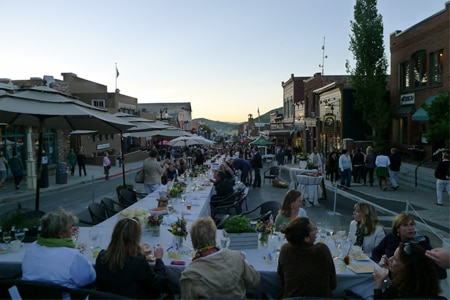 Diners enjoying Savor the Summit in Park City, UT