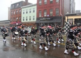 Bagpipers in Boston's St. Patrick's Day Parade