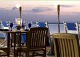 Beachside dining at the Westin Aruba Resort in the Caribbean