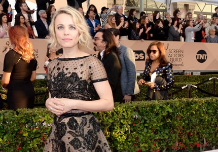 Rachel McAdams, one of the stars in Spotlight, was seen wearing a Le Vian diamond ring at the 2016 SAG Awards