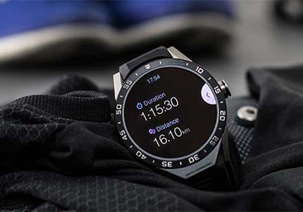 The TAG Heuer Connected smart watch, with Google and Intel software capabilities