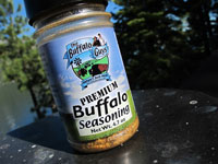 The Premium Buffalo Seasoning is a blend of special spices that complements any cut of meat from The Buffalo Guys
