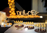 "Valrhona's new Dulcey ""blond chocolates"" on display at the Winter Fancy Food Show"
