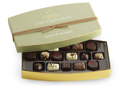 Chef Inspirations is a internationally-inspired limited edition gift box by Godiva