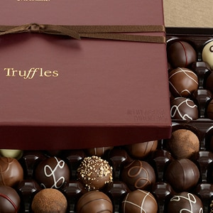 Godiva's Signature Chocolate Truffles include flavors such as Smooth Coconut, French Vanilla and Cappuccino