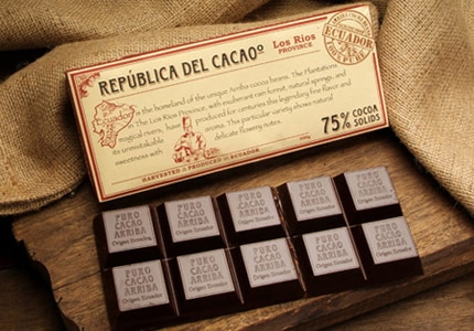 República del Cacaoº only offers single-origin chocolate bars