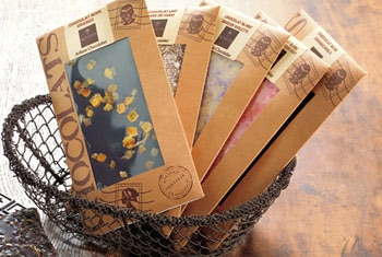 Bovetti crafts an impressive collection of more than 150 different kinds of chocolate bars