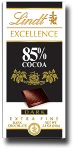 Lindt Excellence 85 percent Cocoa Bar, one of our Top 10 Chocolate Bars