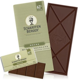 Scharffen Berger Cacao Mocha Chocolate bar, one of our Top 10 Chocolate Bars