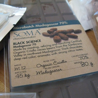 SOMA makes handcrafted microbatch chocolate and is on our list of the Top 10 Chocolate Bars