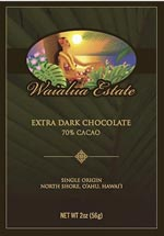Waialua Estate's Extra Dark Chocolate 70 per cent cacao bar is made from cacao that is grown on the North Shore of Oahu