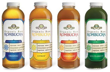 Kombucha, a fermented tea, is rich in probiotics
