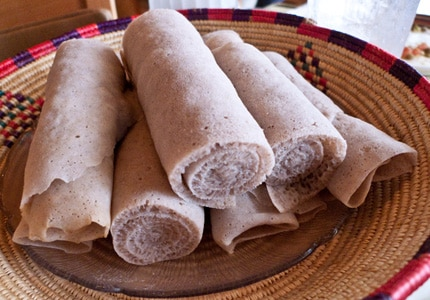Teff is used to make injera, a flatbread common in Ethiopian cuisine