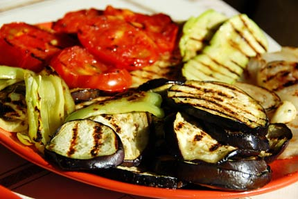 Try our recipe for Grilled Summer Vegetables with Feta Vinaigrette