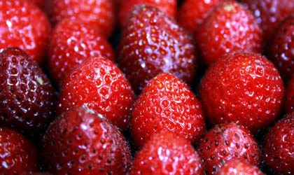 Delicious and juicy fresh strawberries taste great roasted!