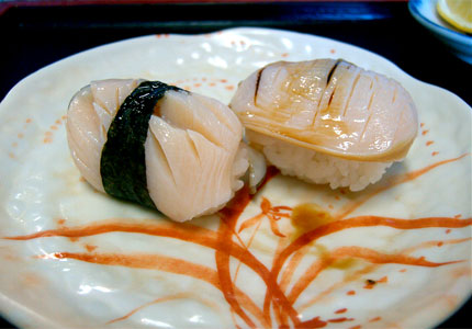 Abalone sushi (image by Flickr user Robert)