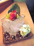 Sashimi of toro, Spanish mackerel and wild Japanese red snapper, at Urasawa in Los Angeles