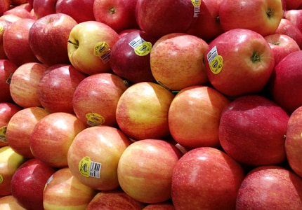 Apples pack four grams of fiber per medium fruit