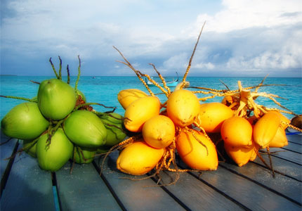 Coconut water contains high levels of potassium (image by Flickr user Badruddeen)