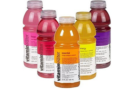 Check out Glacéau Vitaminwater and other enhanced water brands