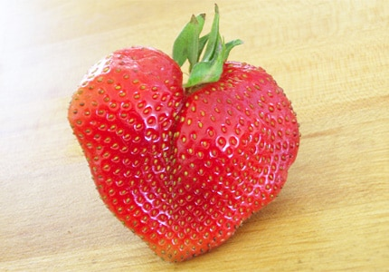 Thanks to its heart-like shape, the strawberry has long been revered as an aphrodisiac