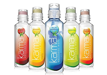 Drink Karma has a variety of enhanced water flavors to choose from