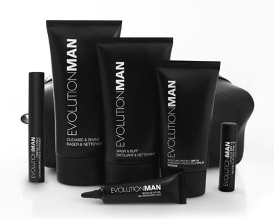 EvolutionMAN's line of eco-friendly skincare products for men