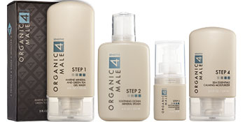 Organic Male OM4 skin care is formulated for the gender-specific issues of skin