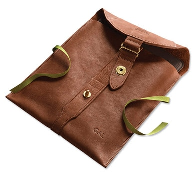 The Orvis American Steerhide iPad Case, one of GAYOT's Top 10 Father's Day Gifts