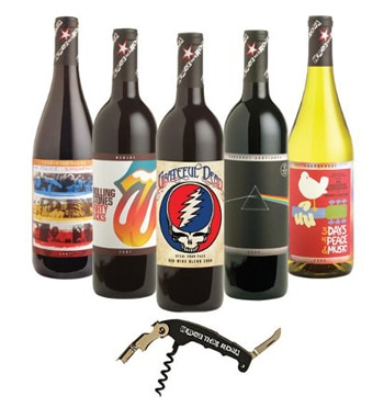 The Wines That Rock Gift Collection features wines inspired by classic albums