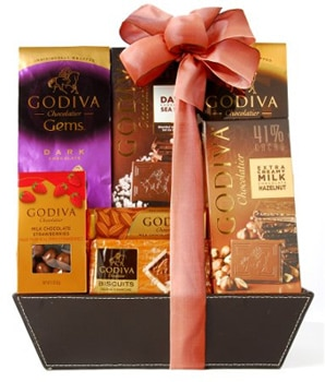 Chocolate lovers will enjoy diving into the Godiva Connoisseur Chocolate Gift Basket, one of our Top 10 Holiday Gifts for 2011