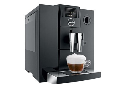 The Jura Impressa F8 Espresso Machine makes your favorite coffee drinks at the push of a button