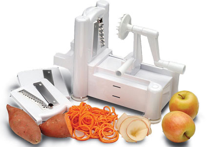 The Paderno World Cuisine Tri-Blade Plastic Spiral Vegetable Slicer, one of GAYOT's Top 10 Holiday Gifts