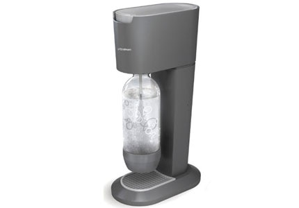 One of GAYOT's Top Holiday Gifts, the Genesis Home Soda Maker turns tap water into sparkling water