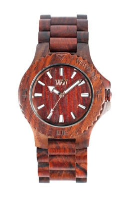 The WeWood watch is crafted from 100% natural wood