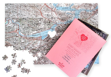 Surprise your love with a personalized Where We First Met Map Puzzle